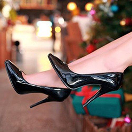 On High Aisun Pumps Low Pointy Sexy Cut Party Womens Toe Black Slip Dress Wedding Heels Stiletto Shoes wqzcFq8g