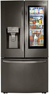 LG LRFVC2406D 24 Cu.Ft. Black Stainless French Door Refrigerator
