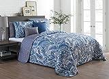 quilt clearance - Avondale Manor Seville 7-Piece Comforter Set, King, Blue