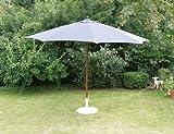 Siena Garden Cantilever Parasol Cover Blue Wooden Frame with Teak Look 159601Teak Effect Ø 350cm