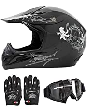 TAOMOTOR HY-602 Helmets Motorcycle Helmet ATV Scooter Helmet with Goggles and Gloves(S/M/L/XL)