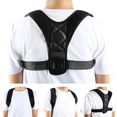 Adjustable Posture Corrector For Men & Women Clavicle Support, Improve Bad Posture, Shoulder Alignment, Muscle Memory, Upper Back and Neck Pain Relief by Tech-Prime (Image #1)