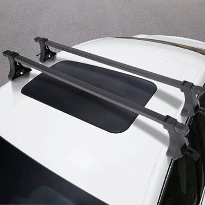 "48"" Universal Car Top Roof Cross Bars Crossbars Luggage Cargo Rack Window Frame"