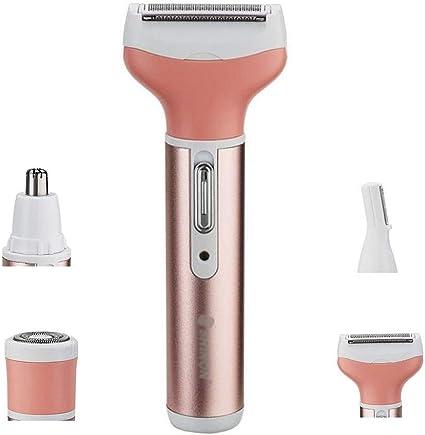 LYX 4 en 1 máquina de afeitar eléctrica depilación facial nariz ...
