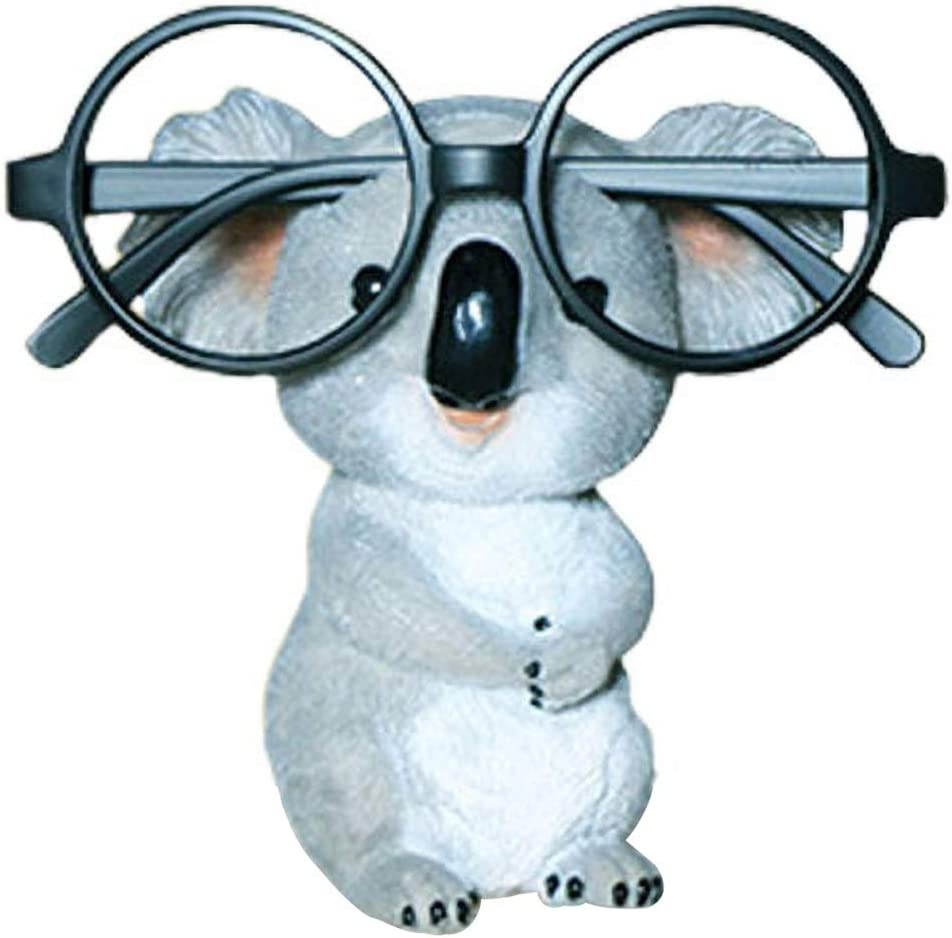 GUIRONG Fun Eyeglass Holder Display Stands - Home Office Decorative Glasses Accessories (Koala)