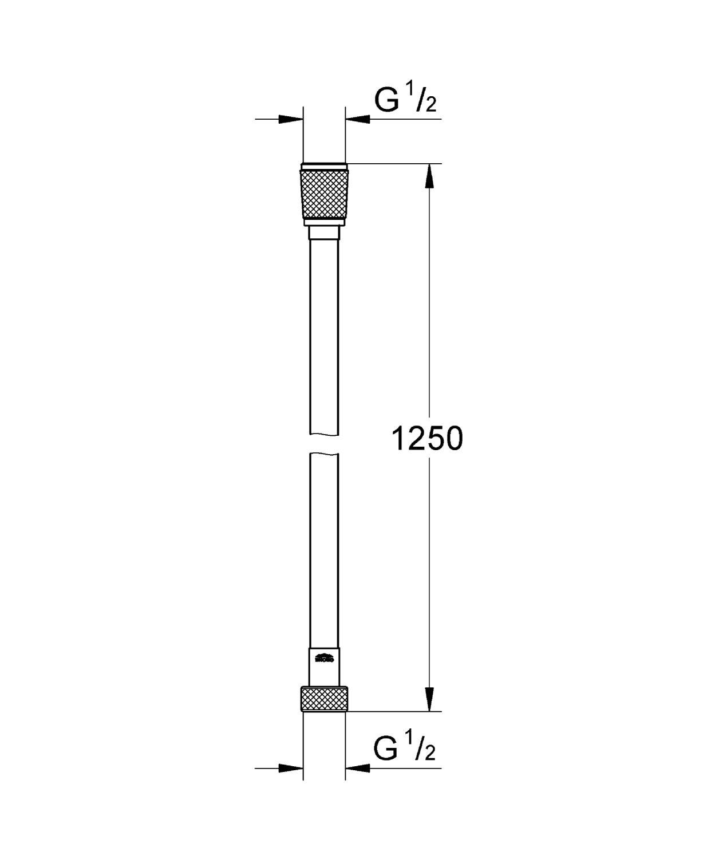 28364000 und Duschsystem Brauseschlauch, 150 cm, Edelstahloptik Grohe Silverflex Brause