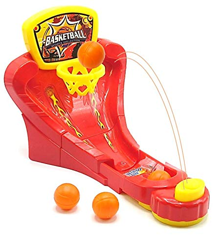 Dazzling Toys Mini Basketball Game - Classic Desktop Tabletop Arcade Hoops Slap Shot Game for Ages 5 and Up | Mini Table Games for Sports Fans and Basketball Fanatics