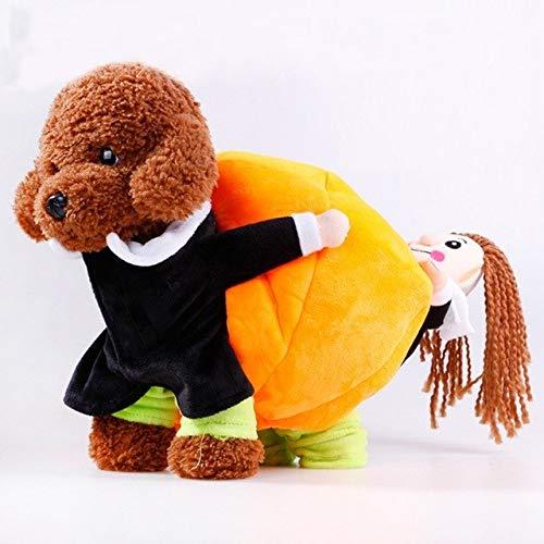Dog Coats & Jackets - Pet Cotton Cloth Warm Halloween Costume Set Carrying Pumpkin Dog - Bear Base Bag Extend Bulge Expect Traveling Transmit Purse Execute Bagful Run Dish - 1PCs -