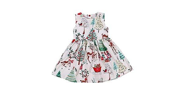 Amazon.com: Vestido de Navidad para niños y niñas, vestido ...