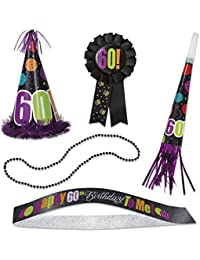 Acquisition Birthday Cheer 60th Birthday Party Accessories Kit, 5pc occupation