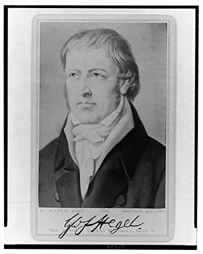 1884 Portrait Portrait (1884 Photo G.W.F. Hegel / E. Hader, pinxit ; phot. u. verl. v. Sophus Williams, Berlin W. Photograph of painting shows Georg Wilhelm Friedrich Hegel, head-and-shoulders portrait, facing left.)
