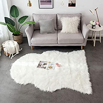 Amazon.com: Ashler Soft Faux Rectangle Fur Chair Couch Cover ...