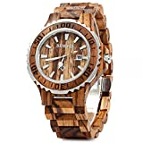 Best Men Watches - BEWELL Original Wooden Watch Men Quartz with Luminous Review