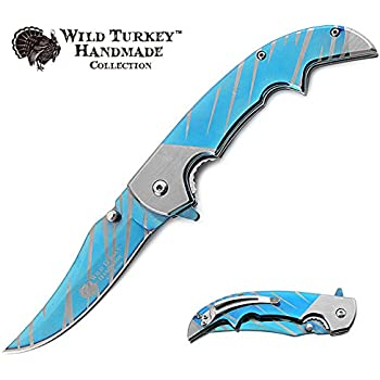 Wild Turkey Handmade Two Tone Heavy Duty Assisted Open Folding Pocket Knife Outdoors Hunting Camping Fishing
