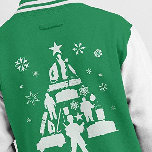 White Men's white Silhouette Jacket Varsity Home Christmas Alone Kelly Tree xwnffSXIz
