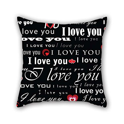 20 X 20 inches / 50 by 50 cm Love Pillowcover Twin Sides Ornament and Gift to Bf Boys Relatives Monther Bedroom Dining Room