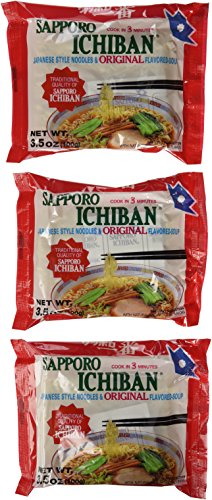 Sapporo Ichiban Japanese Style Noodles Original Flavored Soup, 3.5-Ounce (Pack of 24) - Japanese Style Noodles