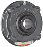 Sealmaster MFC-35 Medium Duty Piloted Flange Cartridge, 4 Bolt, Regreasable, Felt Seals, Setscrew Locking Collar, Cast Iron Housing, 2-3/16'' Bore, 7-1/8'' Overall Length, 4-1/4'' Bolt Hole Spacing Width, 1/2'' Flange Height, ±2 Degrees Misalignment Angle