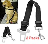 Cheap BeauteCa Premium 2 Pack Adjustable Pet Dog Cat Seat belt Safety Leads Car Vehicle Seat Belt Nylon Fabric Seatbelt
