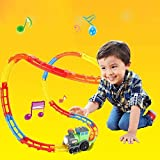 Kids Tumble Train Rail Way Toys Roller Coaster Basic Railway Building Constroction Set for Boys and Girls by Beby
