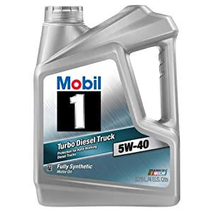 Mobil 1 122260 5W-40 Turbo Diesel Synthetic Motor Oil - 1 Gallon (Pack of 3)