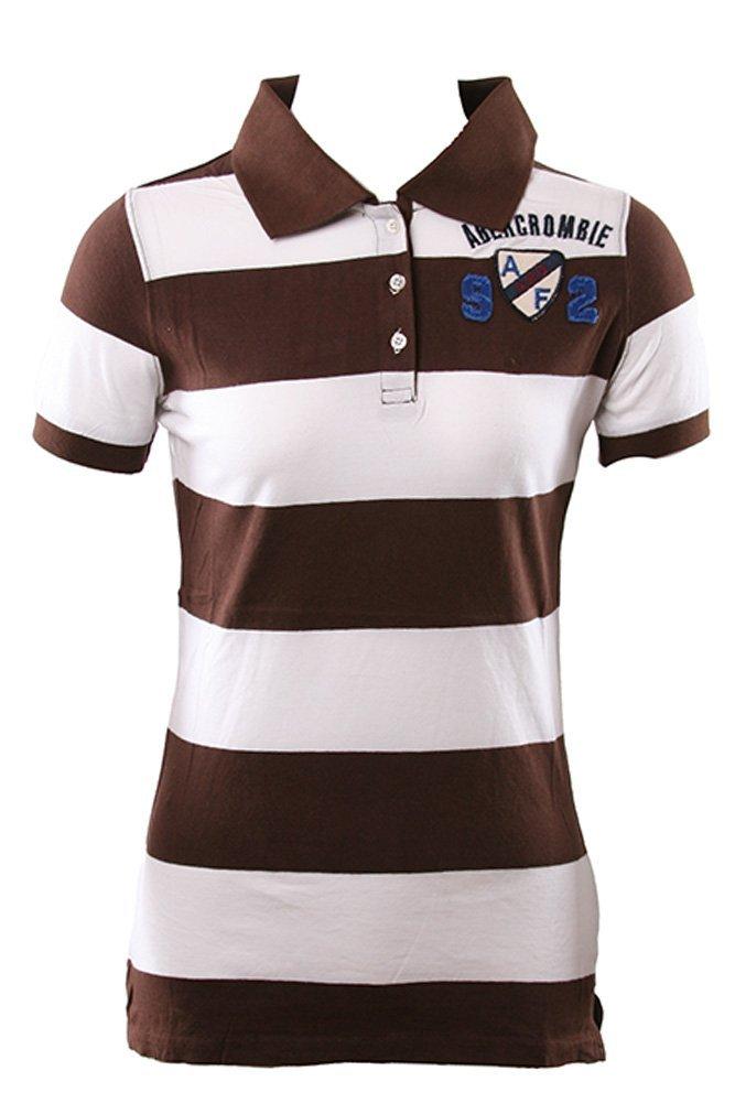 Abercrombie y Fitch A y F 92 blanco y marrón raya camiseta chicos ...