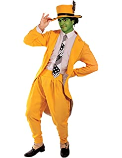 Orion Costumes Mens Deluxe Manic Superhero Fancy Dress Costume Gangster Suit Yellow