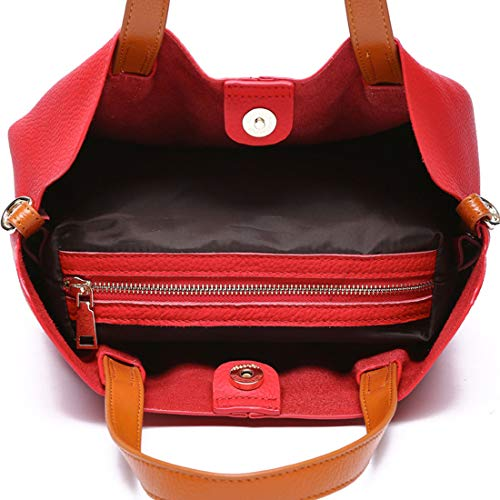Red Color À Dice Bandoulière color Pink Pour Hit Femmes En Cuir Sac Main Fashion Baachang Bq5zw61W