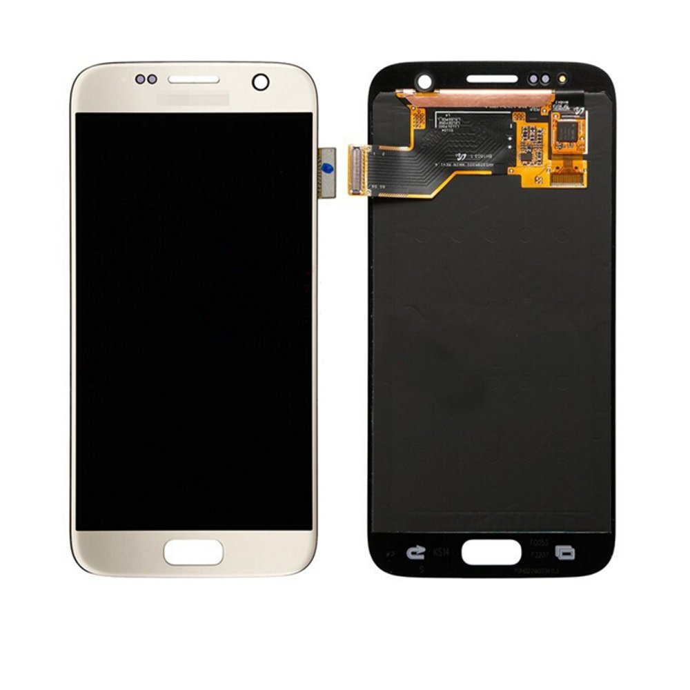 LSHtech LCD Display Touch Screen Digitizer Assembly for Samsung Galaxy S7 SM-G930 with free tools (Gold)