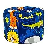 Jungle Fever Animal Print Children's Ready Filled Fun Bean Bag Seat Kids Furniture