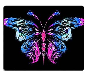 Mouse Pad Natural Rubber Mousepads Abstract silhouette of a butterfly 28939349
