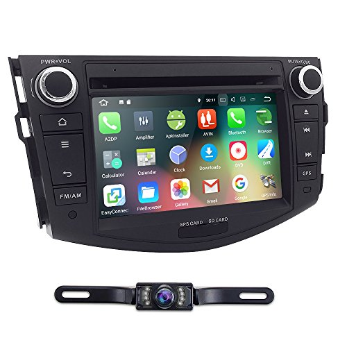 Android 7.1 Hizpo Brand Toyota RAV4 2006 2007 2008 2009 2010 2011 2012 In Dash Double 2 Din Touch Screen GPS iPod DVD Navigation Radio Bluetooth Hands free Rear view Backup Reversing Camera Included