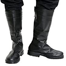 Kylo Ren Boots Deluxe Cosplay Adult PU Shoes Star Force Awakens Wars Custom Made