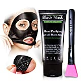 SHILLS Black Mask, Charcoal Peel Off Mask, Peel Off Mask, Charcoal Deep Pore Cleansing Mask, Blackhead Remover Peel Off, Blackhead Purifying Peel Off Mask and Brush Set