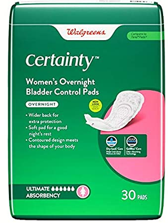 Amazon com: Walgreens Certainty Pads for Women, Overnight