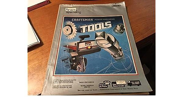 Sears Power and Hand Tools Catalog 1982-1983: Sears Roebuck