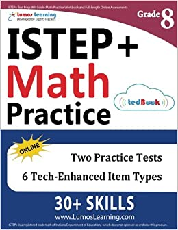 Istep Test Prep 8th Grade Math Practice Workbook And Full Length
