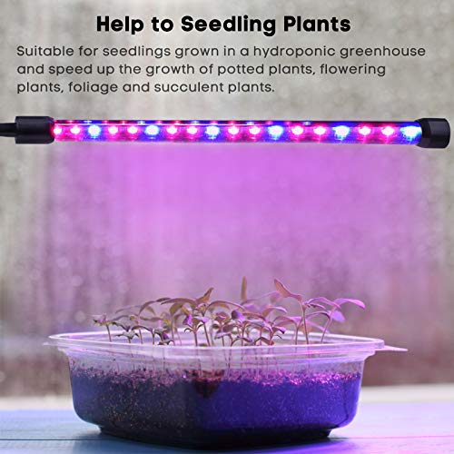 LED-Grow-Lamp-Light-MIXC-USB-18W-Dimmable-Indoor-Plant-Growing-Light-with-5-level-Brightness-3612H-Timer-Adjustable-360-Degree-Gooseneck-for-Seedling-Tray-Succulent-Gardening-Plants-2018-UPGRADED