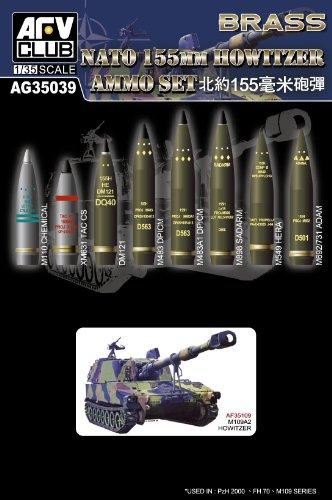 AFV Club AFVAG35039 1:35 NATO 155mm Howitzer Ammo Set (Brass) MODEL KIT ACCESSORY