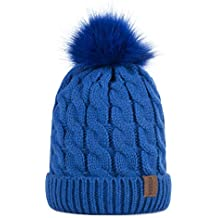 Kids Winter Warm Fleece Lined Hat, Baby Toddler Children's Beanie Pom Pom Knit Cap for Girls and Boys by REDESS