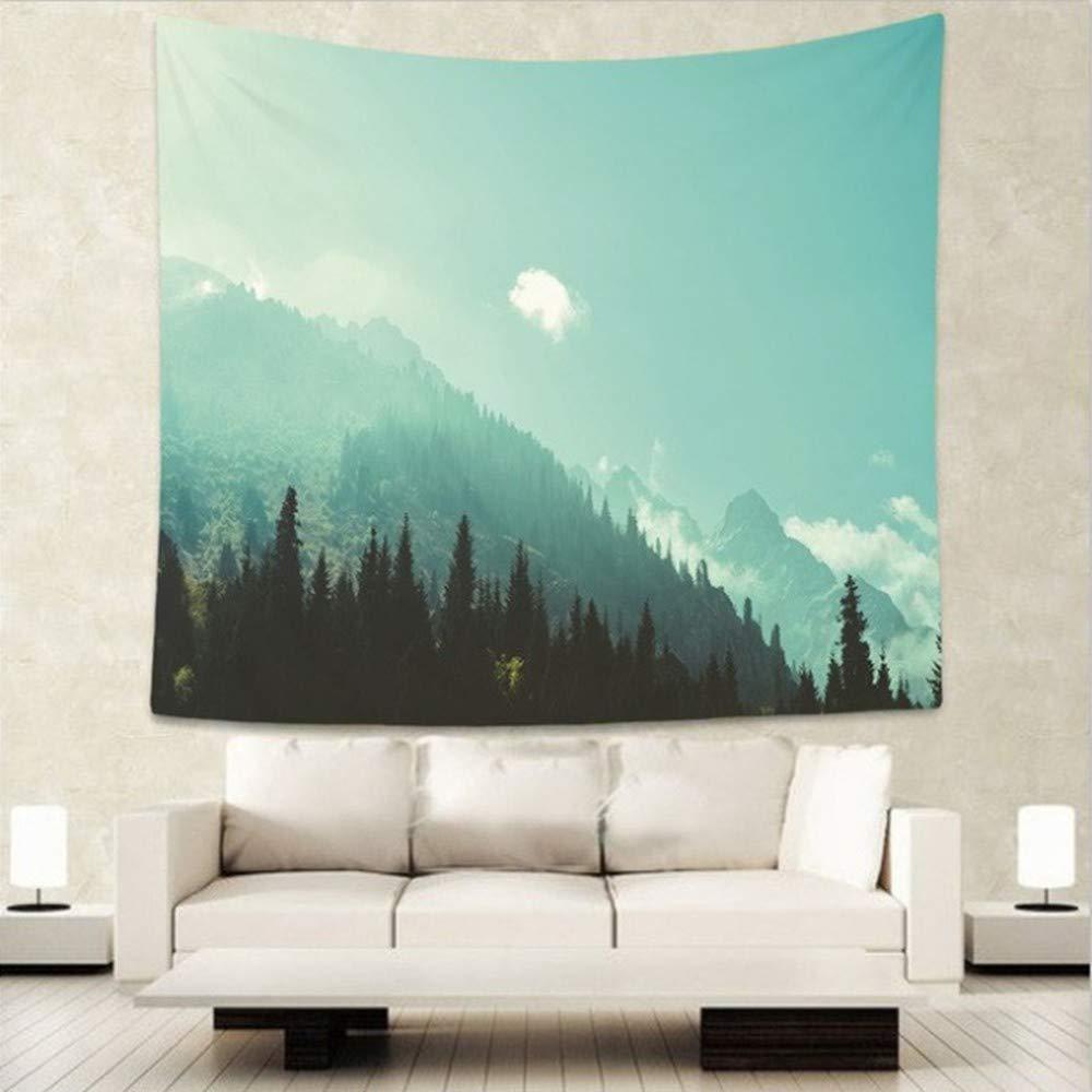 AITU Tapestry Arazzo Naturale del Rilievo di Sonno della Tenda di Picnic della stuoia di Yoga della Decorazione della Parete della tappezzeria della Parete del Paesaggio della Foresta Naturale