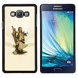 """Be-Star Único Patrón Plástico Duro Fundas Cover Cubre Hard Case Cover Para Samsung Galaxy A7 / SM-A700 ( Warrior Woman & Sword"""" )"""