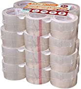 Tape King Clear Packing Tape 3 Inch Wide (Case of 24 Rolls) - 60 Yards Per Refill Roll, (2.7mil T...