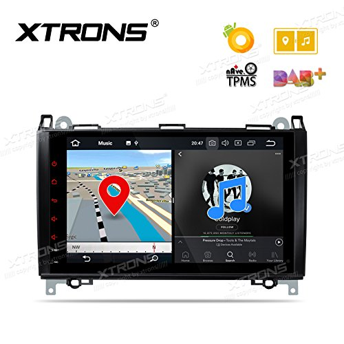 XTRONS 9 Inch Android 8.0 Octa Core 4G RAM 32G ROM Multi Touch Screen Car Stereo Player GPS DVR Wifi TPMS OBD2 for Mercedes Benz W169 W245 W639 2004-2012