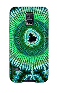 Hot Tpu Cover Case For Galaxy/ S5 Case Cover Skin - Fractal