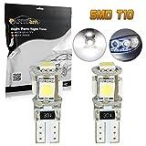 lid lights - Partsam 2pcs W5W 168 2825 White 5-5050-SMD Car Led Parking lamp Eyelid LED Bulbs Driving lights