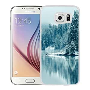 Fashionable Custom Designed Samsung Galaxy S6 Phone Case With Pine Forest Lake Snow_White Phone Case