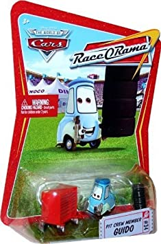 New Disney Pixar CARS Race O Rama Diecast Pit Crew Guido #34 Vehicle 1:55 Car