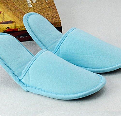 Comfysail de Anti Dérapant Chaussons Chaud de Pantoufles Hiver Bleu Grande Chaussures de Coton Unisexe Pur rwAqvfExr