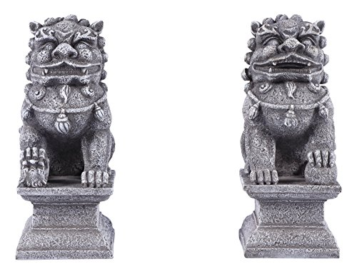 (Foo Dog Pair of Male and Female - Grey)
